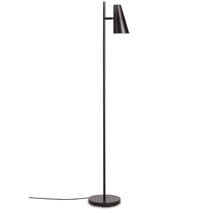 Cono floor lamp H 140 cm by Woud in black