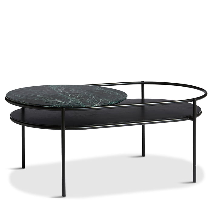 Verde Coffee table from Woud in marble green