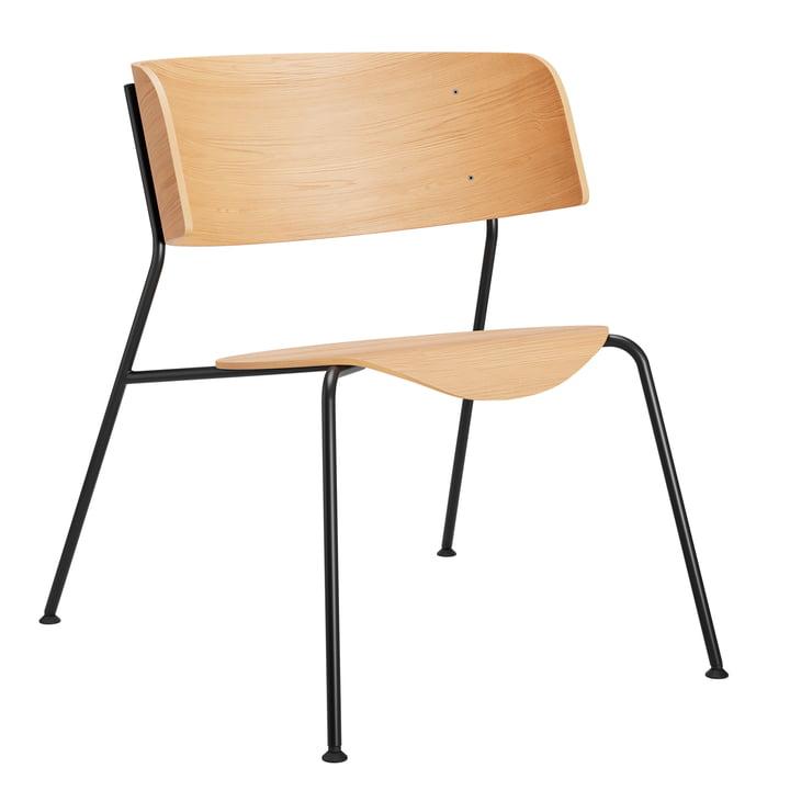 Wagner Loungechair from Objekte unserer Tage in oak matt lacquered / black
