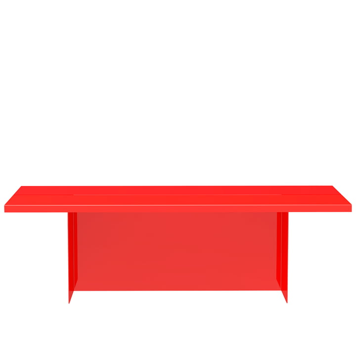 Zebe Bench from Objekte unserer Tage in bright red