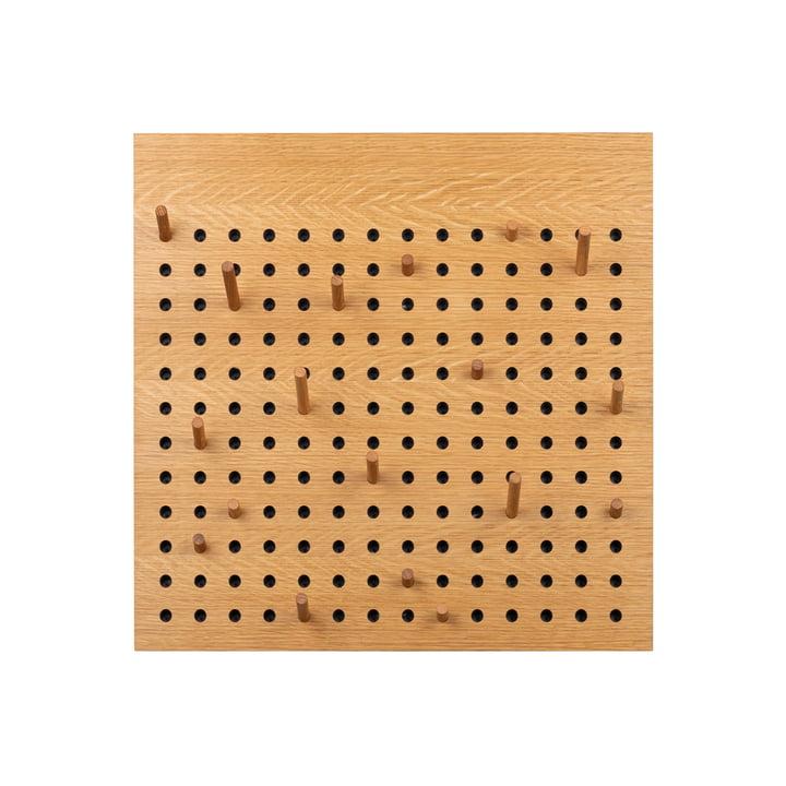 Scoreboard Coat rack square from We Do Wood in natural oak