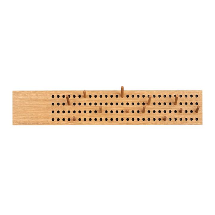 Scoreboard Coat rack large horizontal from We Do Wood in natural oak