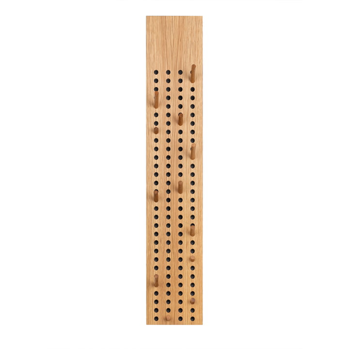 Scoreboard Coat rack large vertical from We Do Wood in natural oak