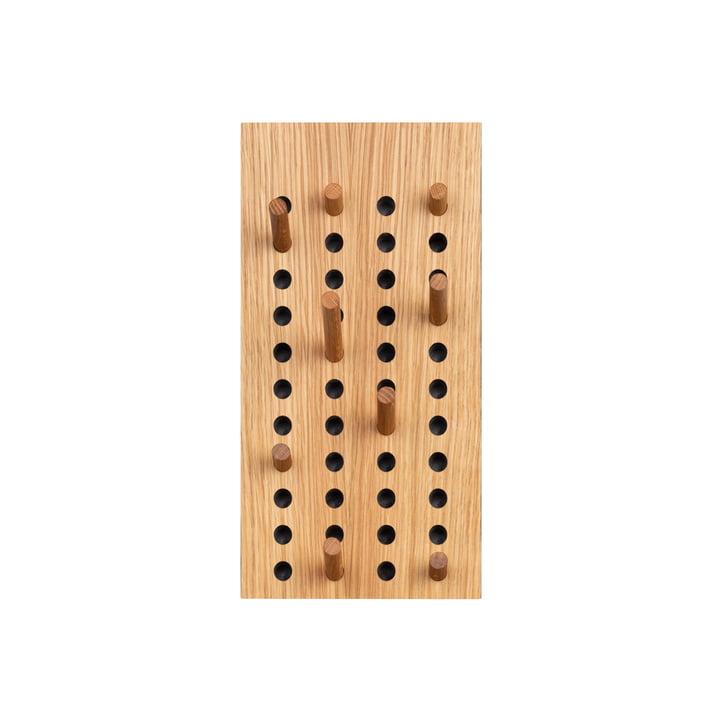 Scoreboard Coat rack small vertical from We Do Wood in natural oak