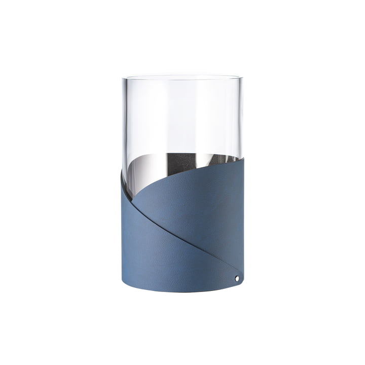 Fold Vase S Ø 7. 5 cm from LindDNA in Nupo midnight blue / glass