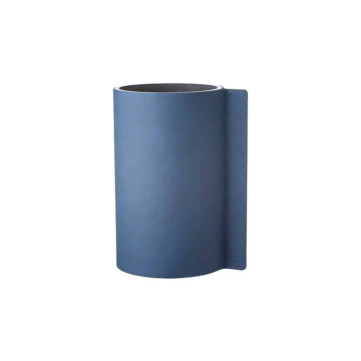 Block vase S Ø 7,5 x 15 cm from LindDNA in Nupo midnight blue / glass