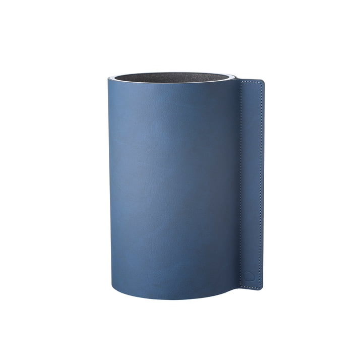 Block vase M Ø 11 x 20 cm from LindDNA in Nupo midnight blue / glass