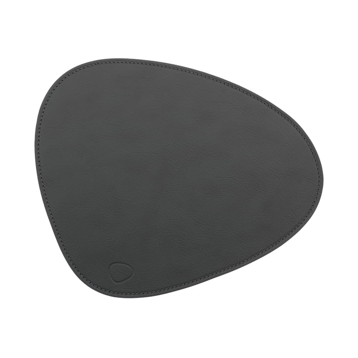 Mouse Mat Curve from LindDNA in Cloud anthracite / seam anthracite