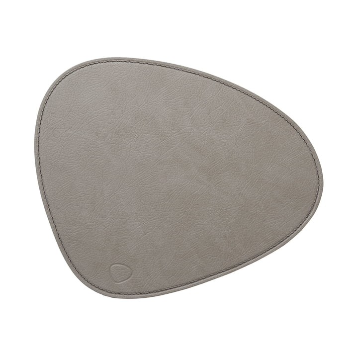 Mouse Mat Curve from LindDNA in Cloud light grey / seam anthracite