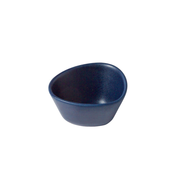 Curve Stoneware bowl S 0.2 l from LindDNA in navy blue