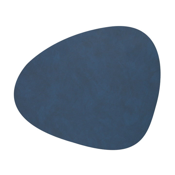 Placemat Curve L in Nupo midnight blue by LindDNA