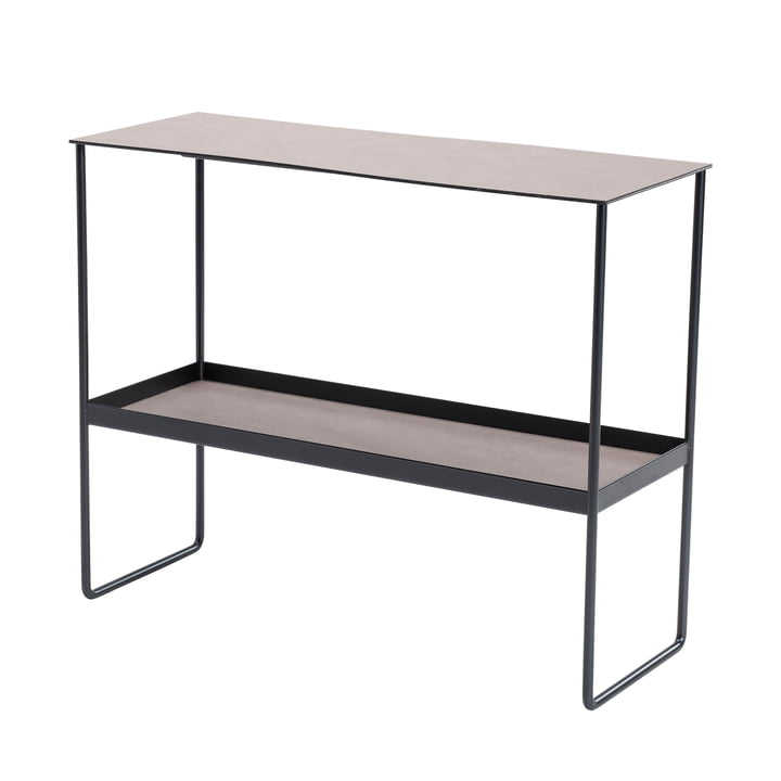 Console table from LindDNA in steel black / Bull warm grey