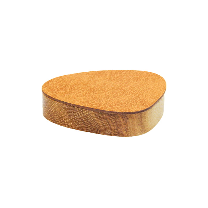 Wood Box with lid curve S 1 2. 5 x 14 cm from LindDNA in natural / natural oak