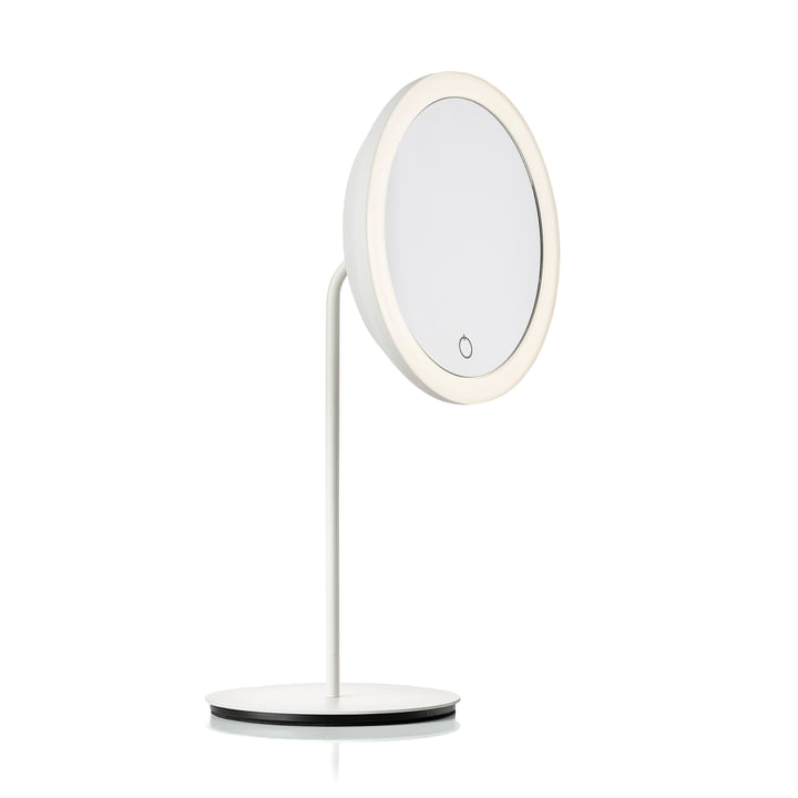 Cosmetic mirror with 5x magnification and LED lighting Ø 18 cm from Zone Denmark in white