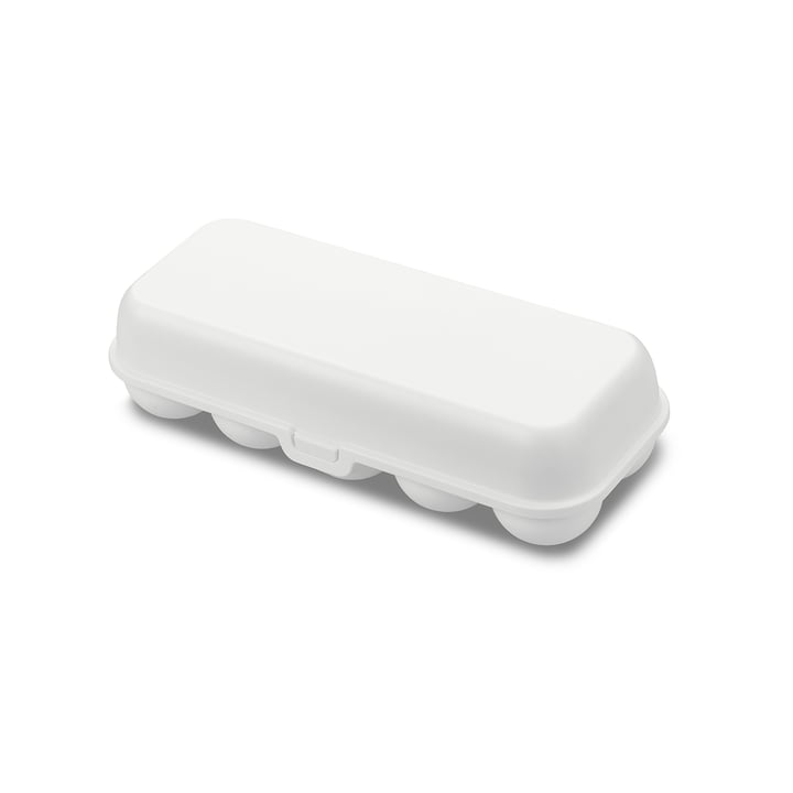 Eggs to go Reusable egg container from Koziol in cotton white