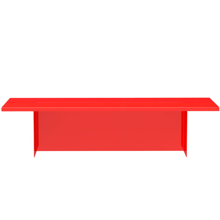 Zebe Bench from Objekte unserer Tage in large bright red