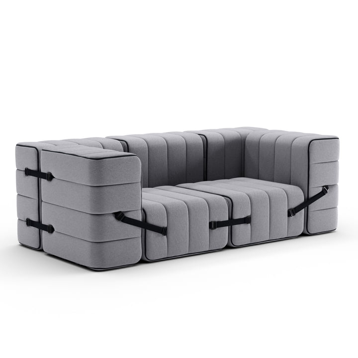 Curt Sofa Set 7 from Ambivalenz in the colour grey (Jet - 9803)