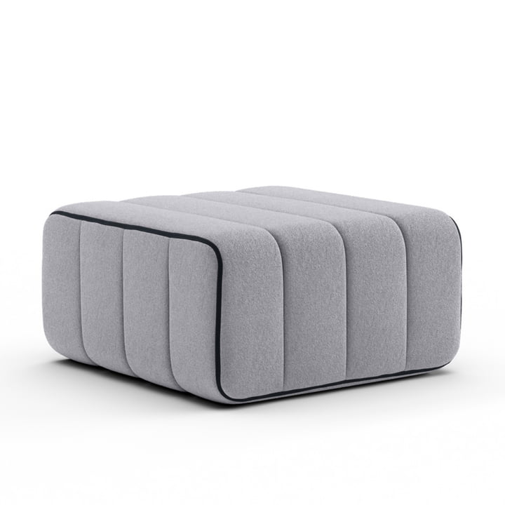 Curt Sofa module from Ambivalenz in the colour grey (Jet - 9803)