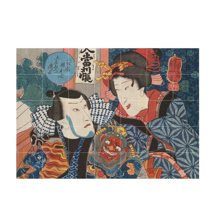 Bando Shuka by Utagawa Kuniyoshi as mural from IXXI in size 140 x 100 cm