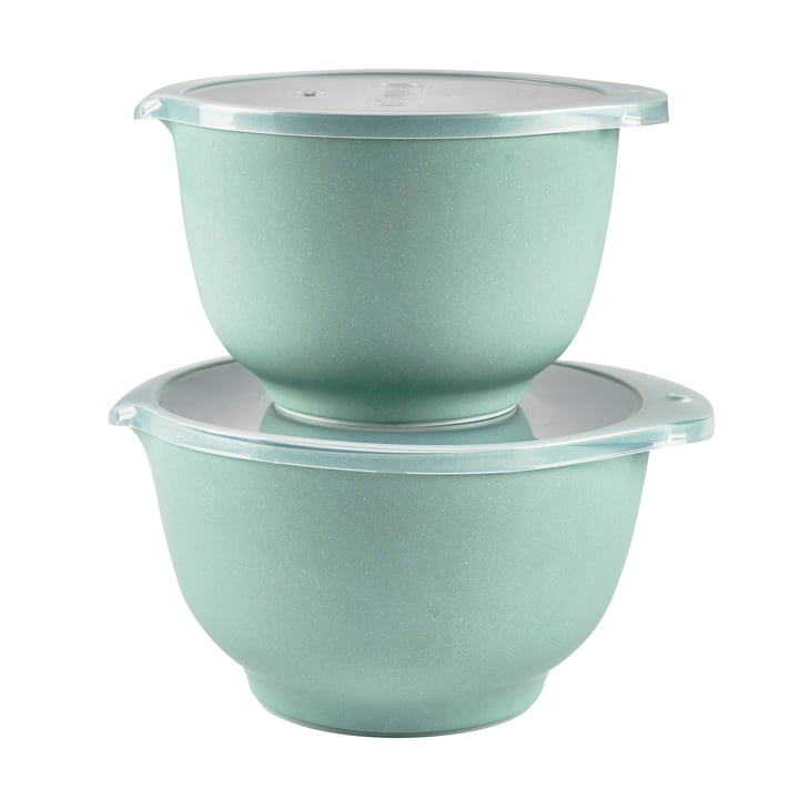 Margrethe mixing bowl set from Rosti in pebble green (4 pcs.)
