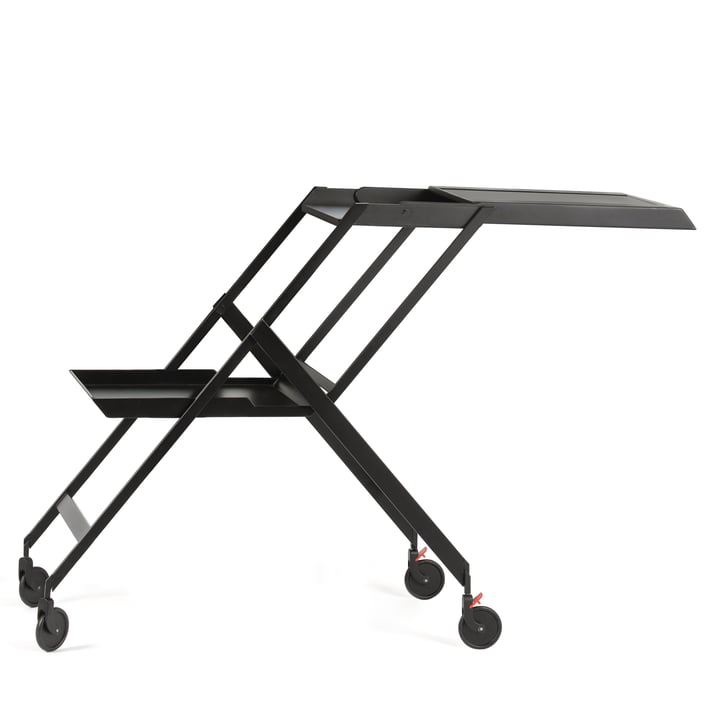 Plico Serving trolley from Alessi in black