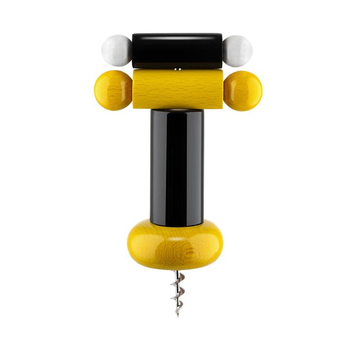 Twergi Corkscrew from Alessi in black / yellow / white