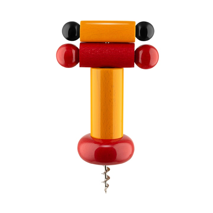 Twergi Corkscrew from Alessi in yellow / red / black