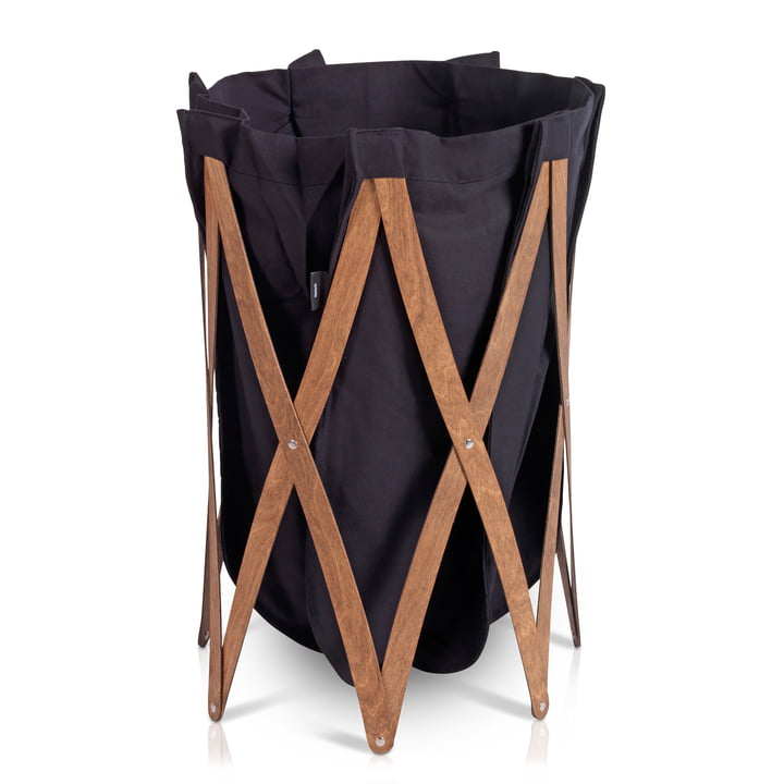Marie Pi Laundry basket from Klein & More in walnut / black