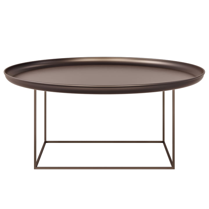 The Duke coffee table from Norr11 , H 39 x Ø 90 cm, bronze