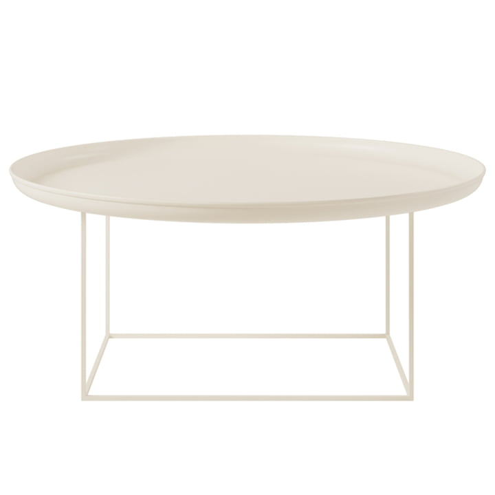 The Duke coffee table from Norr11 , H 39 x Ø 90 cm, antique white