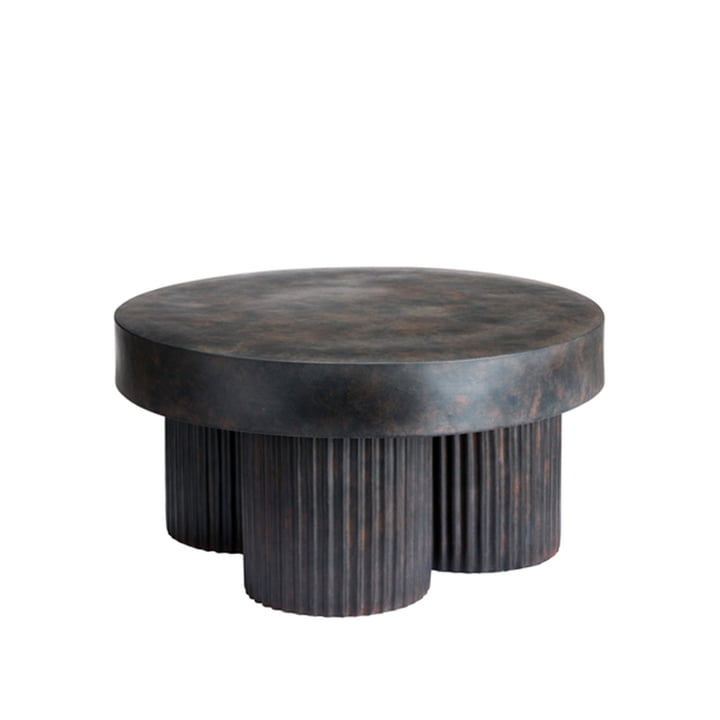 The Gear side table from Norr11 , H 37 x Ø 70 cm, black