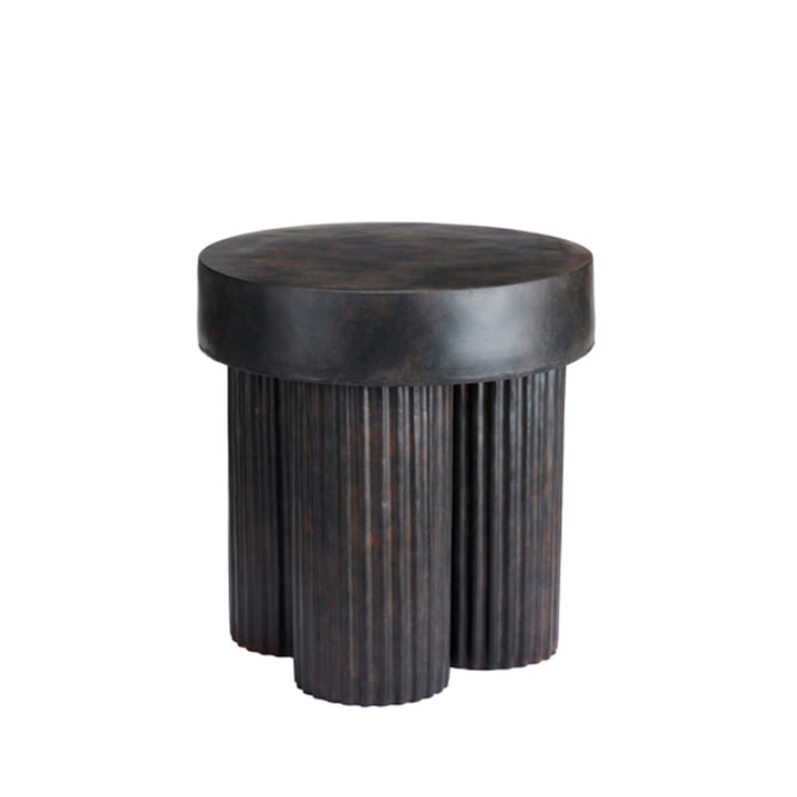 The Gear side table from Norr11 , H 48 x Ø 45 cm, black