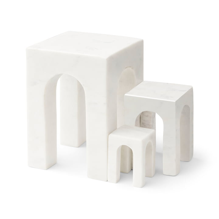 Arkis Bookend from Gejst in white (set of 3)