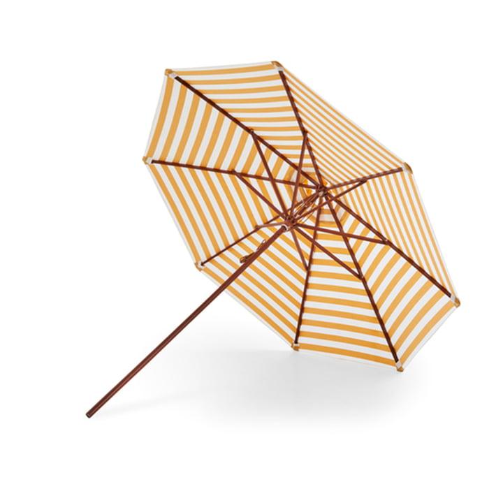 Skagerak - Messina parasol Ø 270 cm, golden yellow stripes