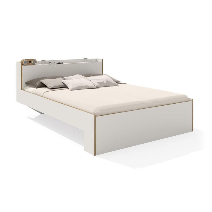 Nook Double bed from Müller Möbelwerkstätten in white