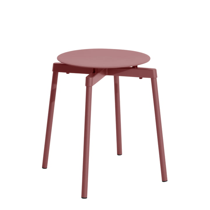 Fromme Stool Outdoor from Petite Friture in brown red