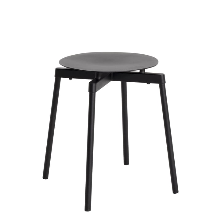 Fromme Stool Outdoor from Petite Friture in black