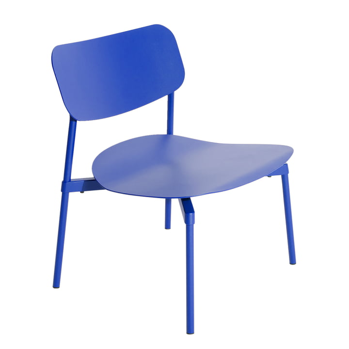 Fromme Lounge Chair Outdoor from Petite Friture in blue