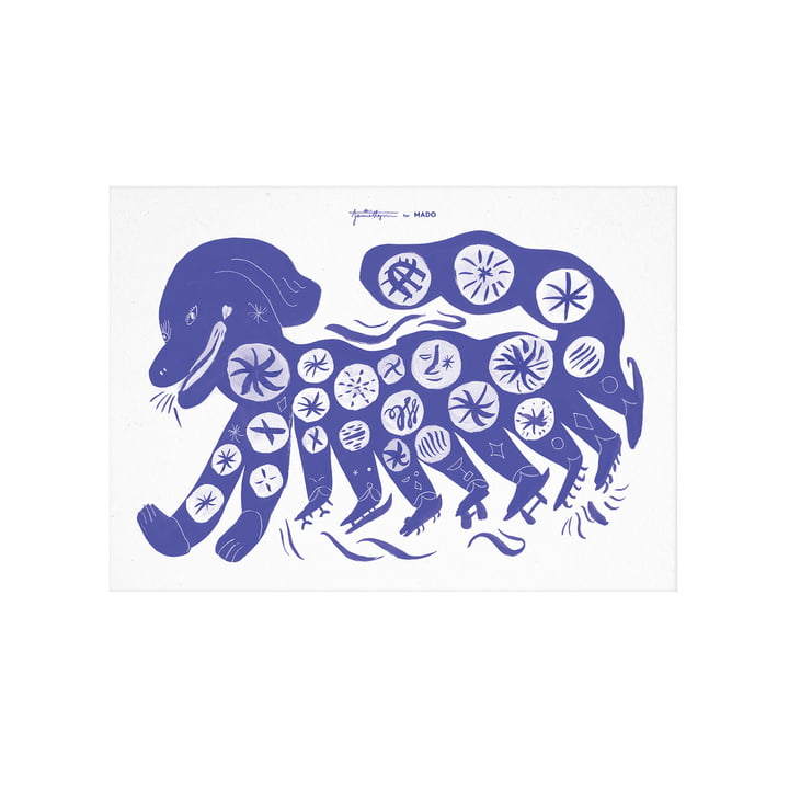 The Chinese Dog poster from Paper Collective , 30 x 40 cm, blue
