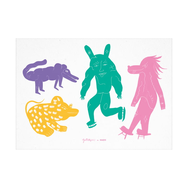 The Four creatures Multi Poster from Paper Collective , 50 x 70 cm