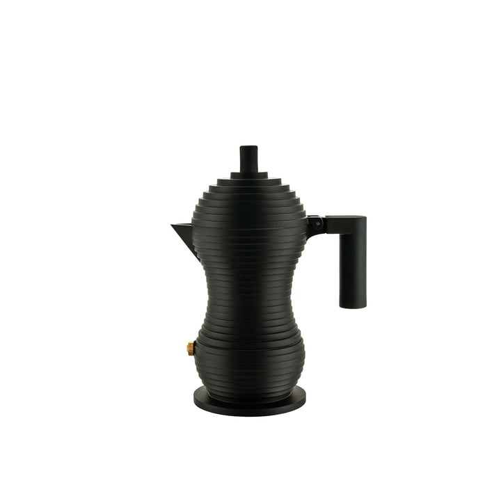 Pulcina Espresso maker 7 cl from Alessi in black