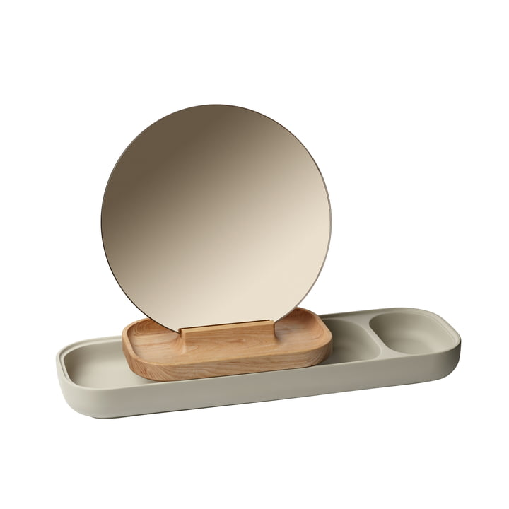 The Slide Jewellery rack with mirror from Fritz Hansen , Ash