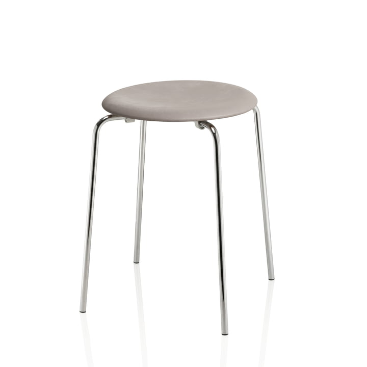 The Dot Stool from Fritz Hansen , lava grey / chrome