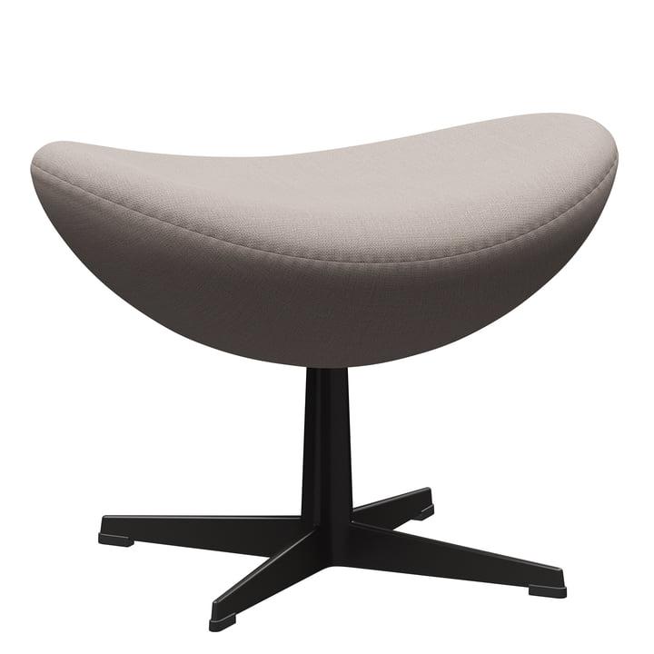 The Egg footstool from Fritz Hansen , warm graphite / Christianshavn 1120 light beige