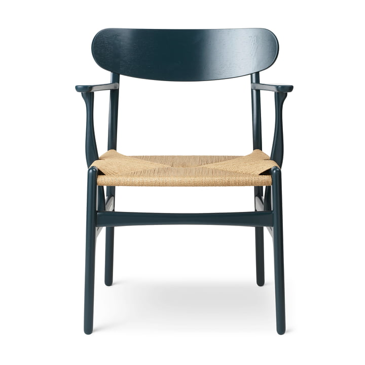 The CH26 armchair from Carl Hansen , north sea / nature
