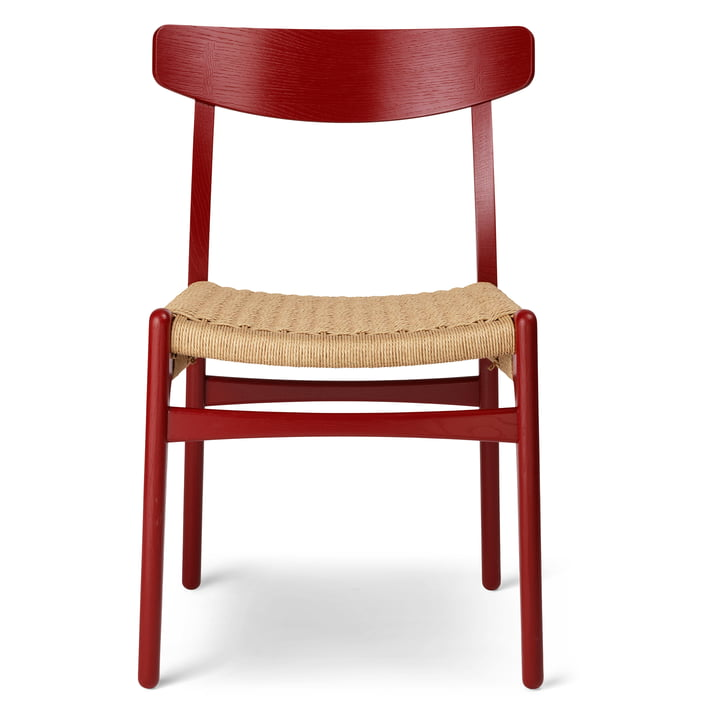 The CH23 Chair by Carl Hansen , falu / natural wickerwork (limited edition)