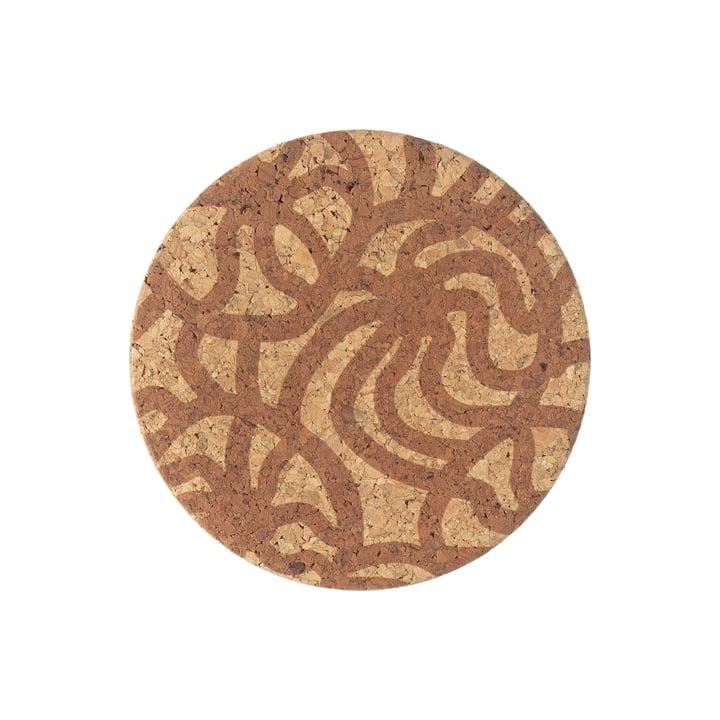 The Joonas coaster / lid from Marimekko , Ø 8 cm, cork (autumn 2021)