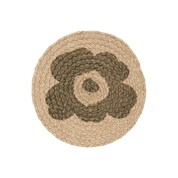 The Unikko trivet from Marimekko, jute