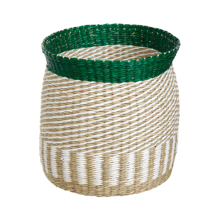 The Silkkikuikka Storage Basket S by Marimekko, sea grass