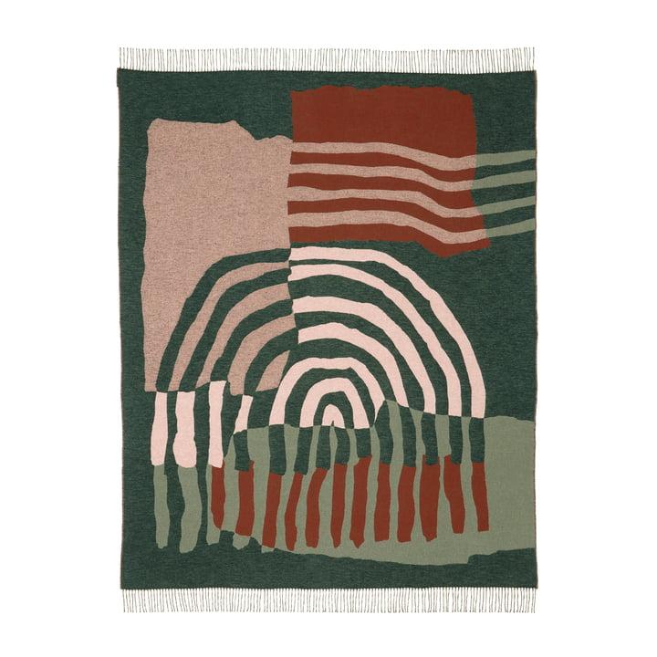 The Vuosirenkaat blanket from Marimekko , 130 x 170 cm, beige / green / pink (autumn 2021)